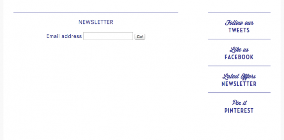newsletter in a separate pge