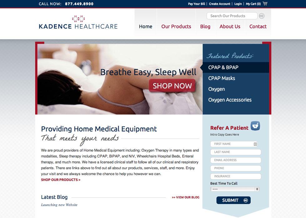 Kadence Home page