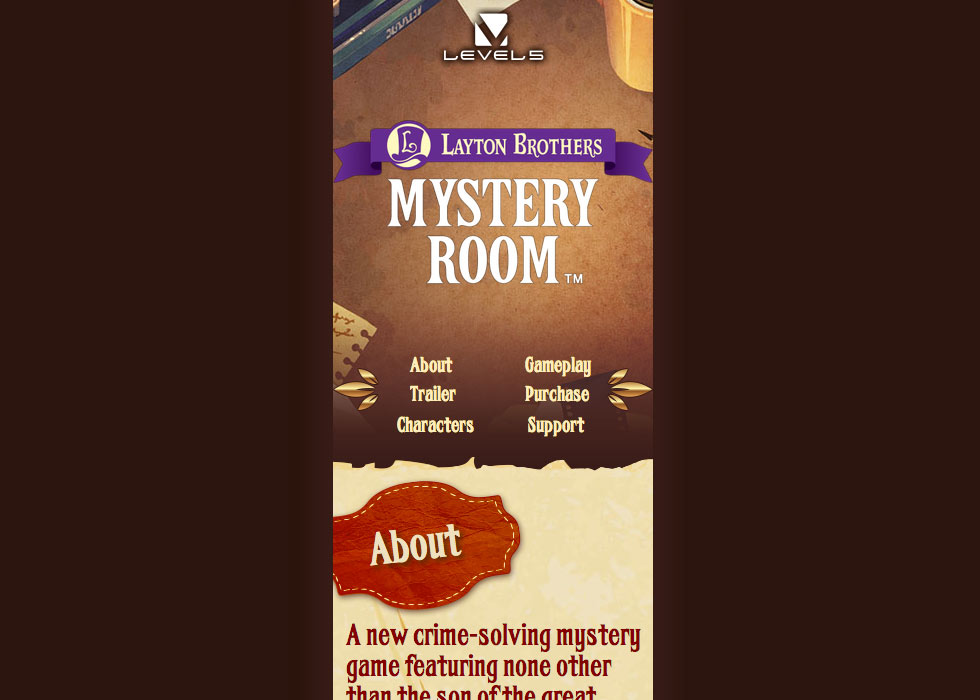 Mystery Room Header Mobile View