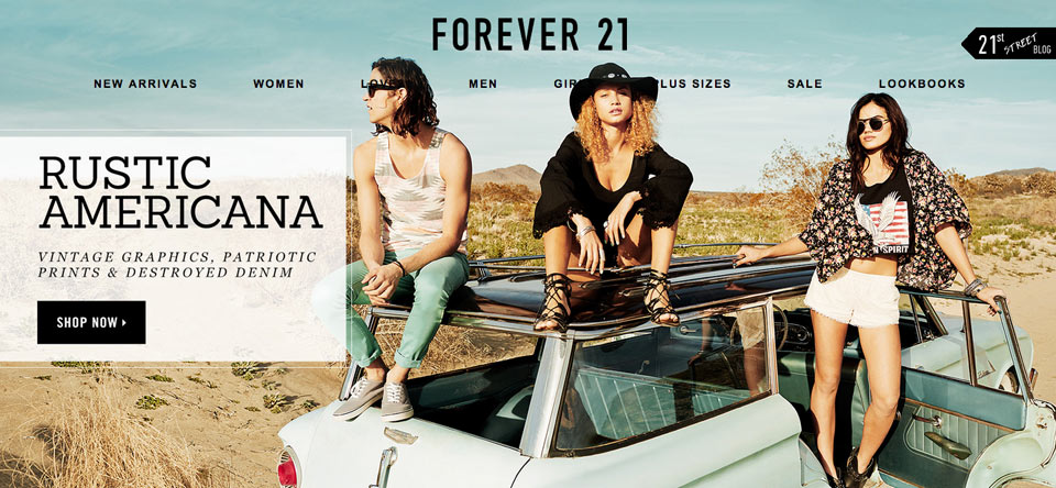 Forever 21 static image example