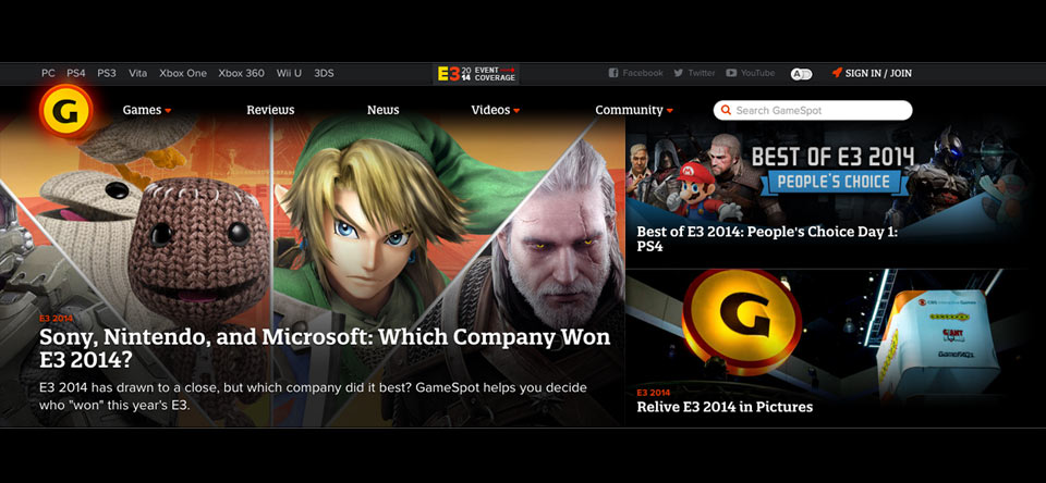 Gamespot multiple static images example