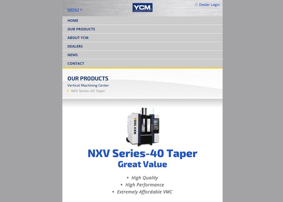 YCM responsive view
