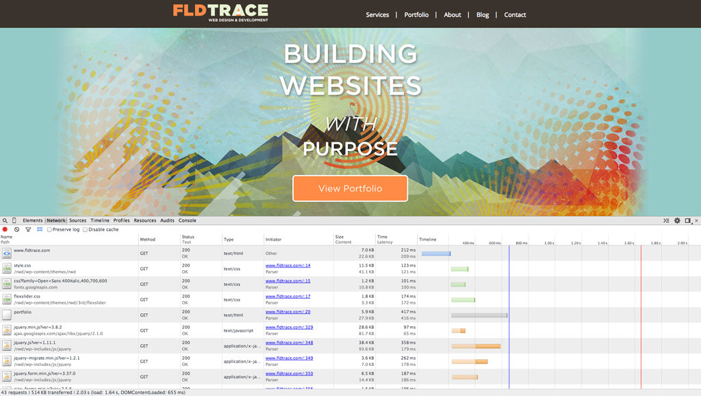 FLDtrace Website Speed