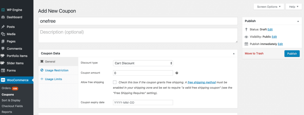 add buy 3 get one free coupon woocommerce