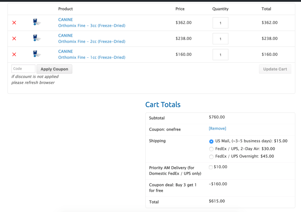 buy 3 get one free coupon cart woocommerce